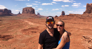 Sofie and Fran in Monument Valley